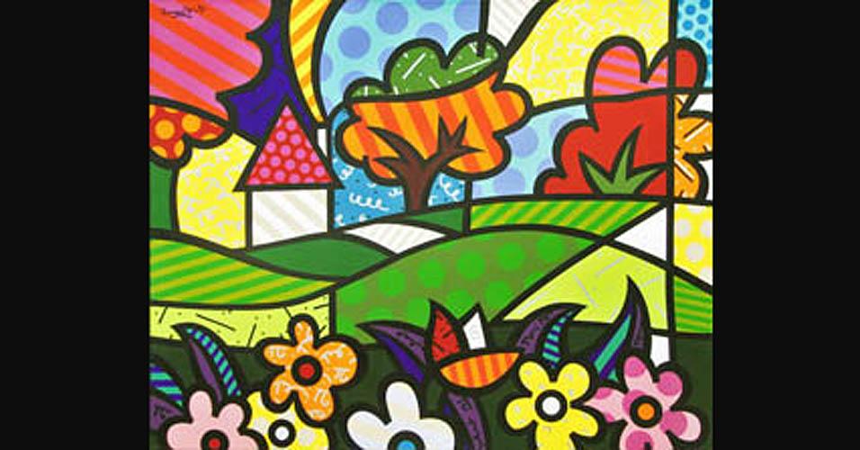 Imagem de &;maçã&; (s/d, madeira, 30 x 27 cm). arte de cores vibrantes