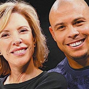 A apresentadora Marília Gabriela e o jogador Ronaldo