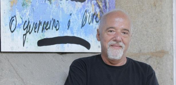 O escritor brasileiro Paulo Coelho, no lançamento do livro O Aleph