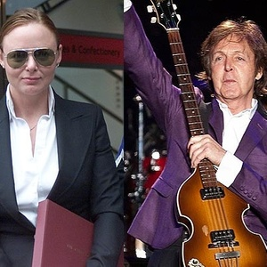 A estilista Stella McCartney e Paul McCartney