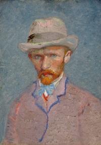Auto-retrato de Vincent van Gogh de 1887; a pintura está no Van Gogh Museum, em Amsterdam