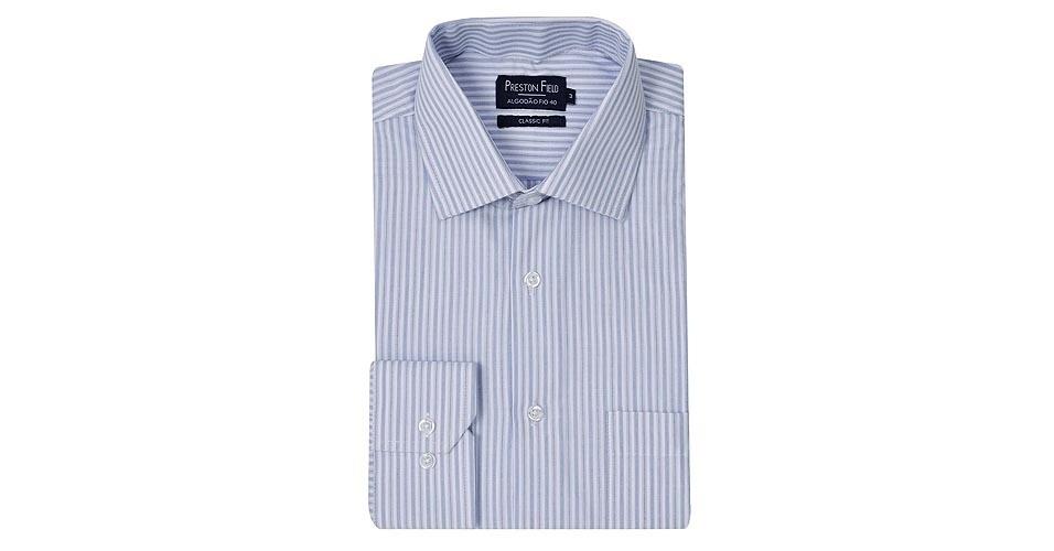 Camisa social fio 40, 100% algodão. Por R$ 49,90