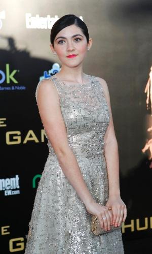 """A atriz Isabelle Fuhrman, que interpreta Clove em """"Jogos Vorazes"""", na pré-estreia do filme em Los Angeles (12/3/12)"""
