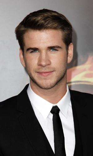 """O ator Liam Hemsworth, que interpreta Gale Hawthorne em """"Jogos Vorazes"""", na pré-estreia do filme em Los Angeles (12/3/12)"""