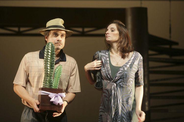Edgar (Luciano Gatti) e Lucinda (Patricia Pichamone)