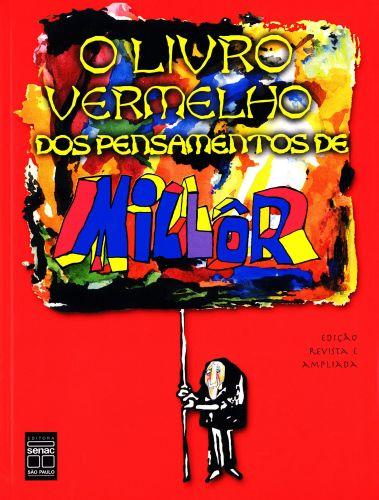 """Capa do livro """"O Livro Vermelho dos Pensamentos de Millôr"""""""