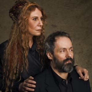 """Os atores Renata Sorrah e Daniel Dantas em cena da peça """"Macbeth"""" (16/03/2010)"""
