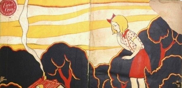 """Ilustração de um dos 42 exemplares de """"Alice no País das Maravilhas"""" que A Cena Muda exibe - Marcos Pinto / UOL"""