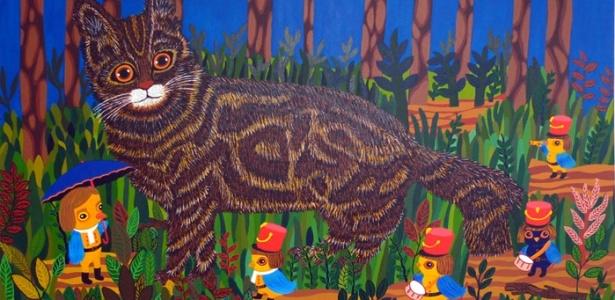 """""""Gato Do Mato"""" (2009; acrílica sobre tela, 50 x 80 cm) faz parte da mostra de Carla Barth - Divulgação"""