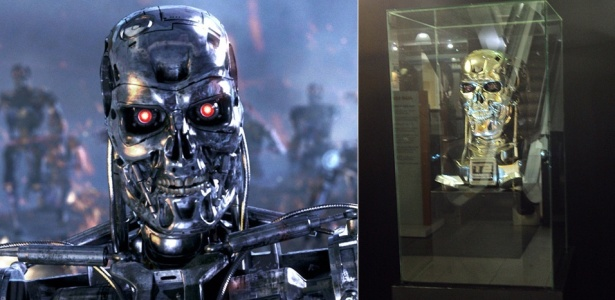 Máscara do Exterminador do Futuro é um dos 22 objetos que estão na mostra em Santo André - Divulgação