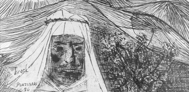 """Detalhe de """"Druso"""", um dos desenhos feitos por Portinari depois de seu contato com Israel - Candido Portinari/Divulgação"""