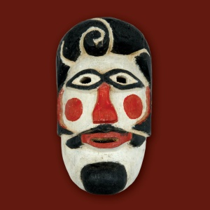 """Detalhe da """"Máscara de Abuelo"""", parte da mostra na Caixa Cultural Sé - Divulgação/Caixa Cultural São Paulo"""