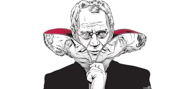 """Detalhe de """"Devil in Letterman"""", do quadrinista Dan Goldman, que brinca com a figura do apresentador David Letterman - Divulgação / Cortesia 3M do Brasil"""