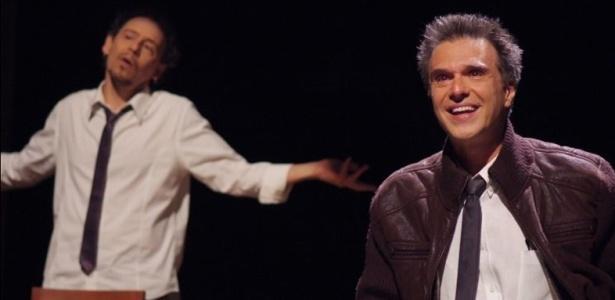 """Premiado """"In on It"""", com Emilio de Mello (esq.) e Fernando Eiras, é uma das atrações - Lenise Pinheiro/UOL"""