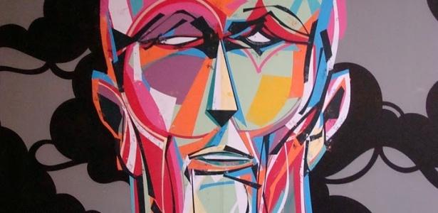 Detalhe de trabalho do grafiteiro Titi Freak que integra a 1ª Bienal Internacional Graffiti Fine Art - Divulgação
