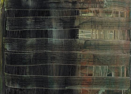 """""""Pintura Abstrata 763-9"""" (1992), do alemão Gerhard Richter, é uma das 160 obras da coleção do grupo falido Lehman Brothers que será leiloada - Sotheby""""s / Efe"""