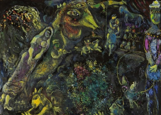 """A pintura """"Bestiaire et Musique"""" (1969), de Marc Chagall: preço recorde na Ásia - Divulgação / Reuters"""