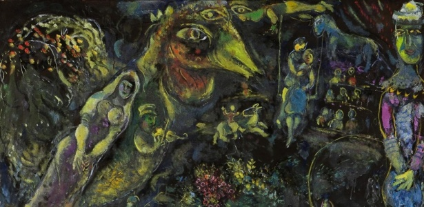 """""""Bestiaire et Musique"""", pintura a óleo de 1969 de Marc Chagall  - Divulgação / Reuters"""