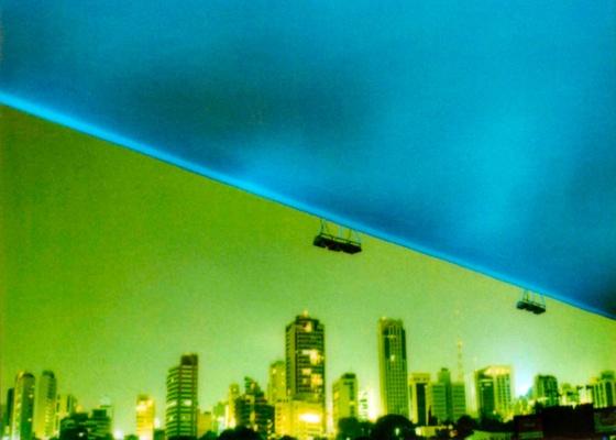 """Foto do Estádio do Pacaembu (2002) está na mostra """"Noturnos"""", de Cássio Vasconcellos - Cássio Vasconcellos / Cortesia Cidade Galeria"""