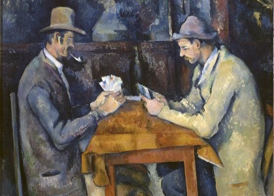 """""""Os Jogadores de Cartas"""", um dos trabalhos de Cézanne na mostra em Londres - Efe"""