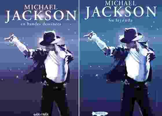 Capas das versões francesa e espanhola da biografia de Michael Jackson - Reprodução/petitapetit.fr/rossellcomics.com