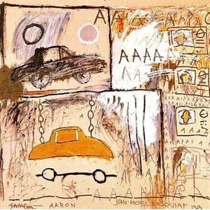 O quadro Cadillac Moon 1981, de Jean-Michel Basquiat, que foi rabiscado em Paris