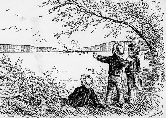 """Ilustração do livro """"As Aventuras de Tom Sawyer"""", de Mark Twain, que teve, ao lado do clássico de Huckleberry Finn, a palavra """"negro"""" retirada de suas páginas: polêmica nos EUA - Reprodução"""