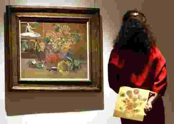 """Quadro """"Nature morte à """"L""""Espérance"""""""", de Paul Gaguin, exibido em casa de leilões em Londres (07/01/2011) - Kirsty Wigglesworth / AP"""