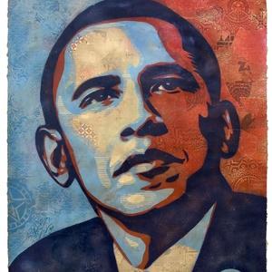 Cartaz da campanha presidencial de Barack Obama criado pelo artista Shepard Fairey - AP / National Portrait Gallery, Barack Obama by Shepard Fairey