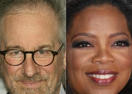O cineasta Steven Spielberg e a apresentadora Oprah Winfrey, considerados os famosos mais influentes dos Estados Unidos