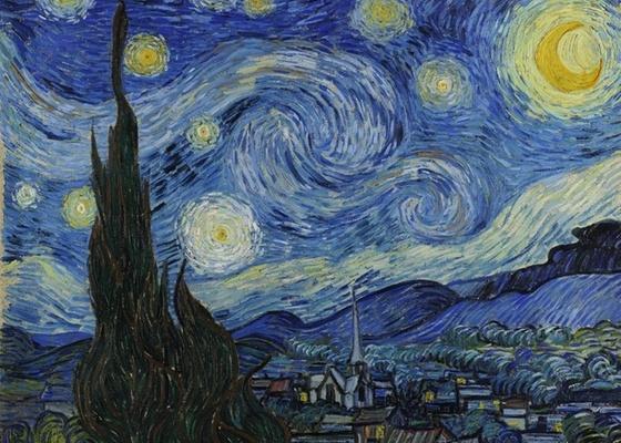 """Detalhe de """"Noite Estrelada"""", obra de Vincent Van Gogh que integra coleção do MoMA em Nova York e que agora pode ser vista em detalhes por meio de ferramenta do Google - AP / Cortesia MoMA"""