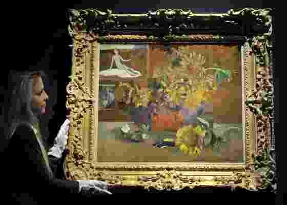 """""""L""""Espérance"""""""", tela de Paul Gauguin, é exibida em Londres (09/02/2011) - Andy Rain / EFE"""