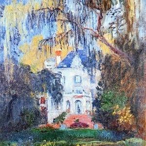 """Detalhe de """"La Maison de Yerres"""", de Monet - Reprodução"""