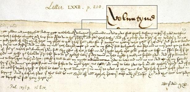 Carta de amor enviada em 1477 por Margery Brews a John Paston - BBC