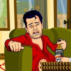 Charlie Sheen encontra o par ideal para suas noitadas festivas