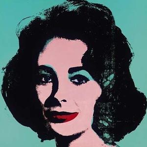 Detalhe de retrato de Elizabeth Taylor feito pelo artista pop Andy Warhol - AFP
