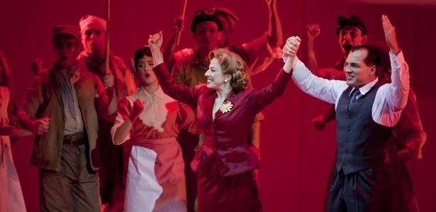 """""""Evita"""", a superprodução musical com Daniel Boaventura, participa do evento """"Festa do Teatro"""" - Rodrigo Capote/Folhapress"""