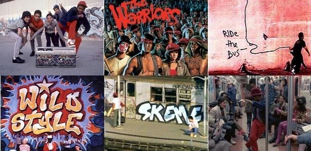Cenas e detalhes de cartazes de filmes sobre grafite  - Fotomontagem UOL