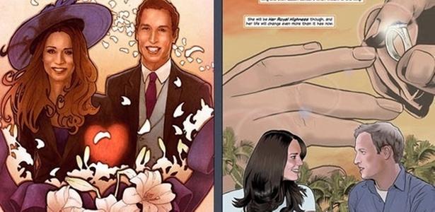 História de amor de Kate Middleton e Príncipe William é contada em quadrinhos - Divulgação