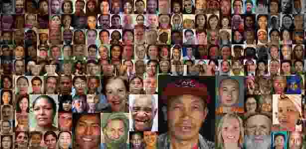 """Mosaico com fotos dos personagens da exposição """"6 Bilhões de Outros"""", em cartaz no Masp - Reprodução / http://www.6milliardsdautres.org"""