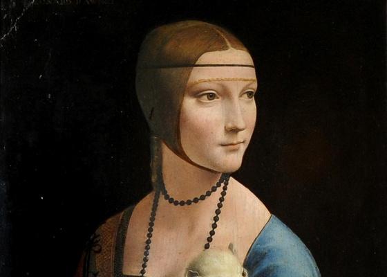 """Detalhe da obra """"Dama com Arminho"""", de Leonardo Da Vinci - Alik Keplicz /AP"""