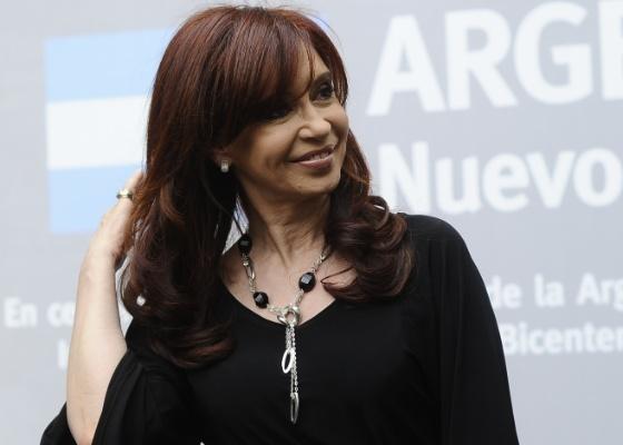 Cristina Fernandez Kirchner visita pavilhão argentino na 54ª Bienal de Arte de Veneza (3/5/2011) - AFP PHOTO / Filippo MONTEFORTE