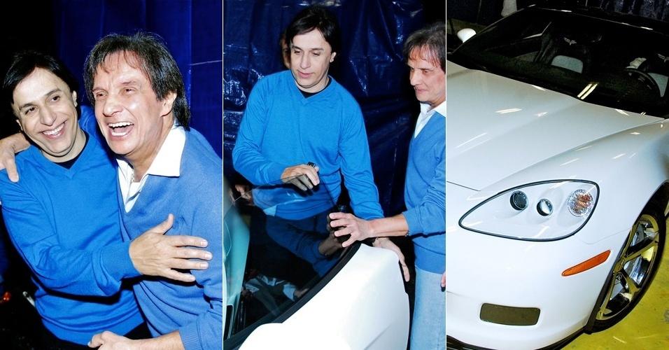 Tom Cavalcante ganha carro importado de Roberto Carlos (16/5/2011)