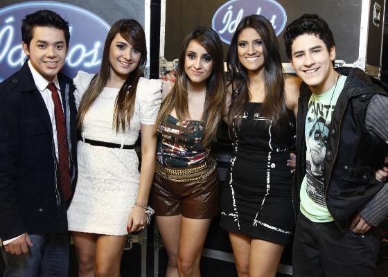 Da esquerda para a direita, os finalistas Higor Rocha, Fernanda Portilho, Karielle Gontijo, Hellen Caroline e Henrique Lemes