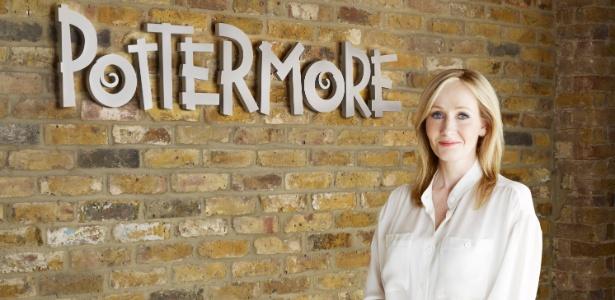 A autora J.K. Rowling da saga de Harry Potter, anuncia o site colaborativo Pottermore.com (23/6/2011)