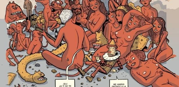 Imagem de antologia publicada pela Dibbuks do personagem Paolo Pinocchio, do argentino Lucas Varela (05/07/2011) - EFE