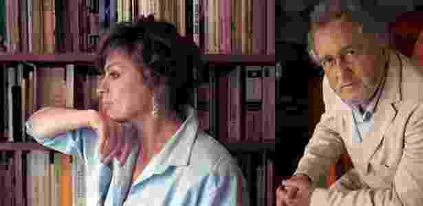 Os autores colombianos Laura Restrepo e Héctor Abad Faciolince, que participam da Flip - Montagem UOL / Carlos Duque/Daniela Abade/Divulgação