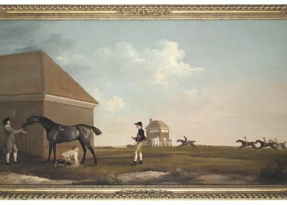 """Pintura """"Gimcrack on Newmarket Heath, with a Trainer, a Stable-Lad, and a Jockey"""" de George Stubbs chega a 33 milhões de Euros no leilão da Christie""""s (5/7/2011) - EFE/Christie""""s"""