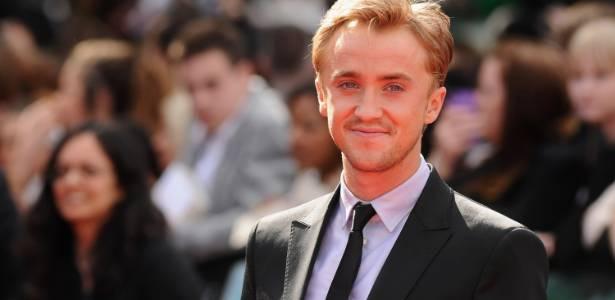 """Tom Felton, o Draco Malfoy, na pré-estreia do último filme da saga """"Harry Potter"""" em Londres (7/7/2011) - Getty Images"""