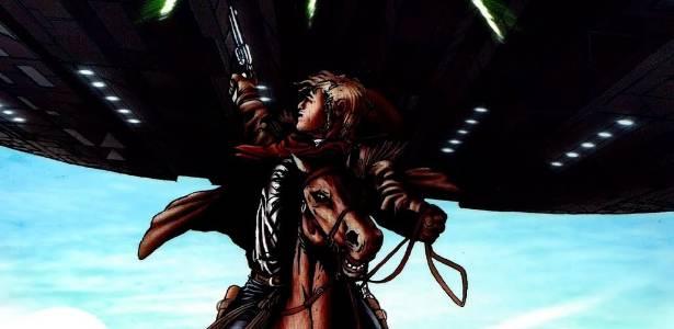 """Nos quadrinhos """"Cowboys & Aliens"""" uma invasão alienígena acontece no Velho Oeste - Divulgação"""